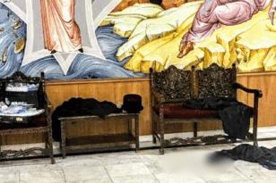 Μονή Πετράκη: Εικόνες από την αίθουσα όπου έγινε η επίθεση με το βιτριόλι - ΦΩΤΟ ΚΑΙ ΒΙΝΤΕΟ