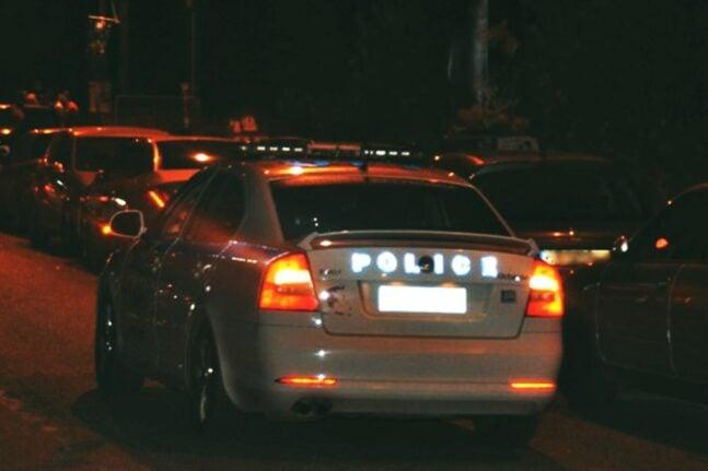 αστυνομία περιπολικό βράδυ δρόμος εικόνα ΕΛ.ΑΣ. FACEBOOK PAGE