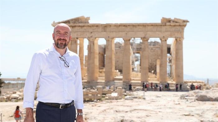 Σαρλ Μισέλ από την Ακρόπολη: «H Ελευθερία και η Δημοκρατία στο επίκεντρο του έργου μας»