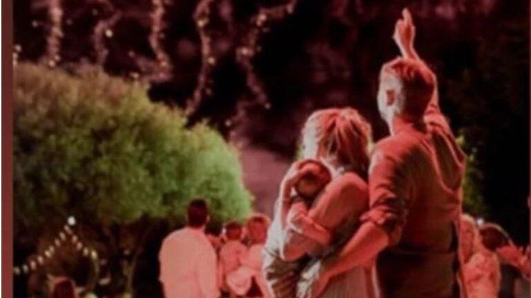 Μπουρδούμης - Δροσάκη βάπτισαν τον γιο τους στην Πάτρα - ΦΩΤΟ