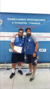 Γκοτσόπουλος Μπούσιας Πανελ. Κ18 Βόλος 2021 Ασημένιο μετάλλιο