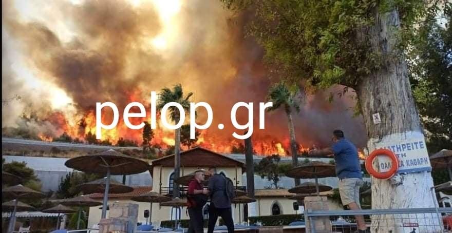 Μαίνεται η φωτιά στην Αιγιάλεια - Καμένα σπίτια στη Ζήρια - Εκκένωση χωριών - ΦΩΤΟ - BINTEO