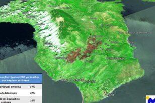 Κεφαλονιά: Περίπου 6.000 στρέμματα έγιναν στάχτη - Η εικόνα από τον δορυφόρο - ΦΩΤΟ