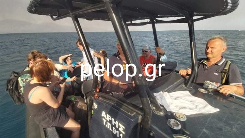 Φωτιά - Ζήρια: Eκκένωση δια θαλάσσης ενοίκων ξενοδοχείου στο Λόγγο - ΦΩΤΟ