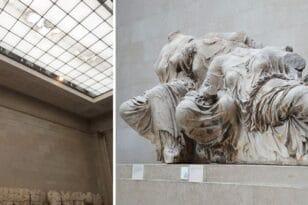 Βρετανικό Μουσείο: Μπήκε νερό στην αίθουσα με τα Γλυπτά του Παρθενώνα