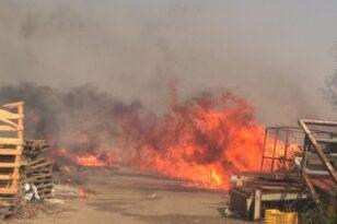 Ανδραβίδα: Πυρκαγιά στην είσοδο της 117 ΠΜ - Στο Νοσοκομείο πυροσβέστης