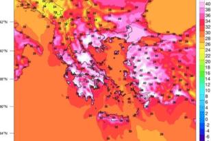Καύσωνας: Εως 46 βαθμούς θα «χτυπήσει» σήμερα η θερμοκρασία