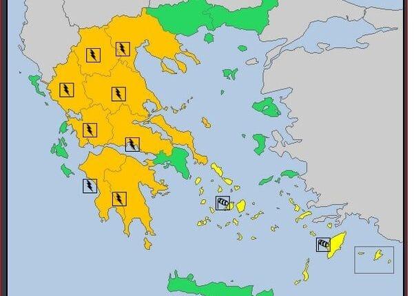 Περιφέρεια Δυτικής Ελλάδας: Έκτακτο Δελτίο Επιδείνωσης Καιρού - Τοπικές καταιγίδες στα ορεινά