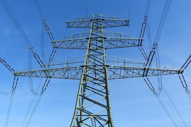current strommast power line energy electricity power supply technology high voltage pylon