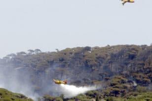 Μάχη με την πυρκαγιά κοντά στο Σεν-Τροπέ δίνουν οι Γάλλοι πυροσβέστες