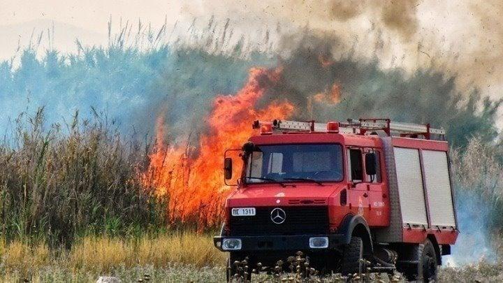 Φωτιά σε δασική έκταση στη Μάνη