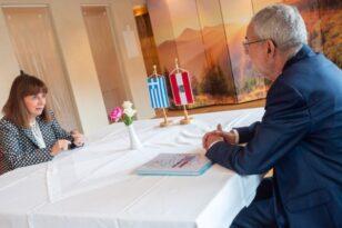 Συνάντηση Σακελλαροπούλου με τον Πρόεδρο της Αυστρίας