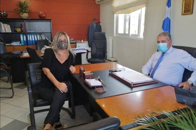 Στο γραφείο του Διοικητή της 6ης ΥΠΕ, η Πρόεδρος της Υγειονομικής Επιτροπής της ΕΠΣ Αχαΐας
