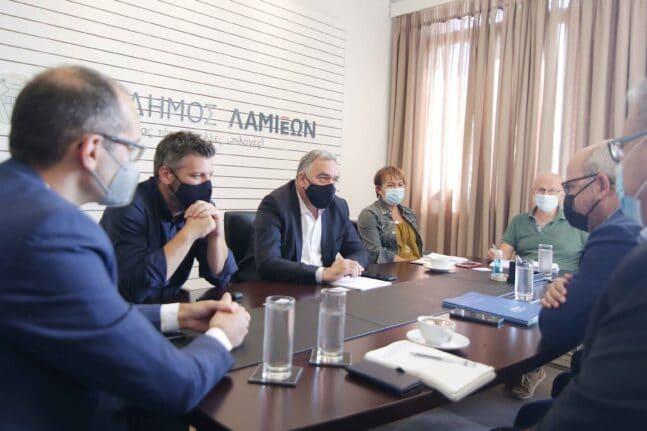 Σύσκεψη για το έργο της ΔΕΔΑ στη Λαμία