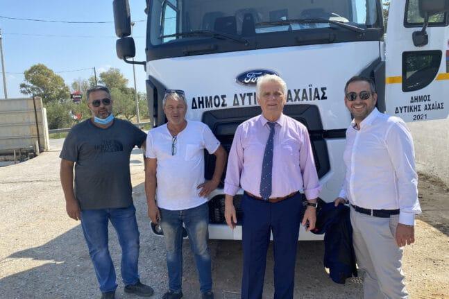 Δήμαρχος Δυτικής Αχαΐας: Το νέο απορριμματοφόρο αυξάνει τις δυνατότητες περισυλλογής απορριμμάτων