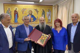 Ο Ελληνας Δήμαρχος του Tarpon Springs της Florida συναντήθηκε με τον Μητροπολίτη Χρυσόστομο