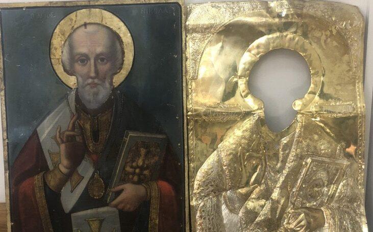 Πάτρα: Αμεση σύλληψη άνδρα που έκλεψε εικόνα του Αγίου Νικολάου από ναό