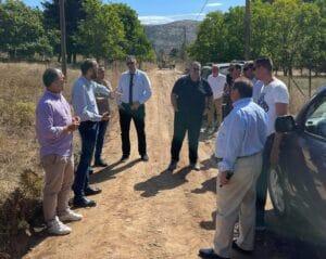 Ξεκίνησαν οι εργασίες στον δρόμο Κουνινά – Ρακίτα - Επίσκεψη Φαρμάκη στο σημείο