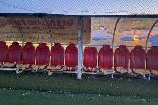 Εκτεταμένες ζημιές στο γήπεδο της Χαλανδρίτσας!