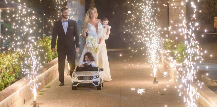 Γιώτα και Κωνσταντίνος - Ένας υπέροχος καλοκαιρινός γάμος και μια διπλή βάπτιση στο Λαμπίρι