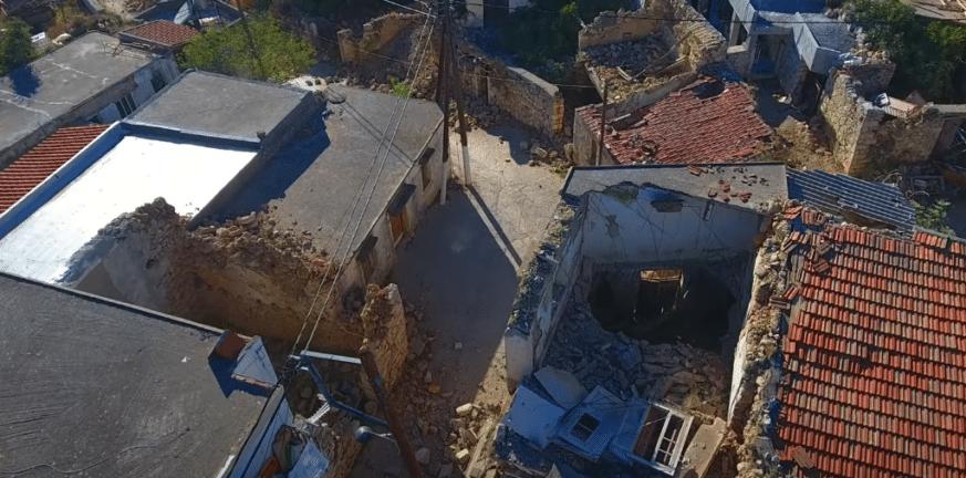 Σεισμός στην Κρήτη: Εικόνες από drone δείχνουν το μέγεθος της καταστροφής
