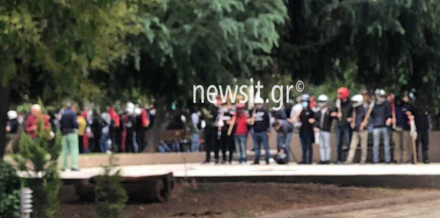 Επεισόδια στο ΕΠΑΛ Σταυρούπολης: Στο αυτόφωρο τέσσερις από τους συλληφθέντες