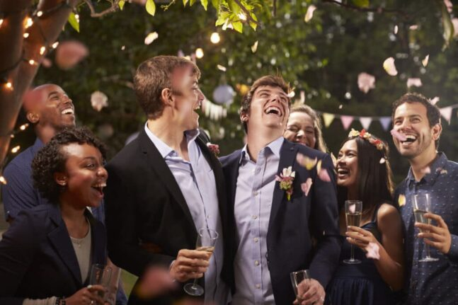 gay couple celebrating wedding with party in backy pucrkdr 1024x683 1