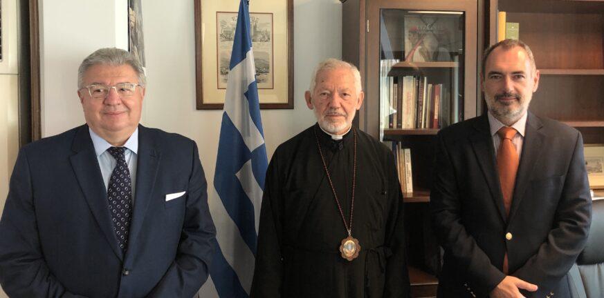 Συνάντηση Κατσανιώτη με τον Αρχιεπίσκοπο Καναδά