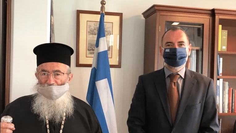 Με τον Αρχιεπίσκοπο Σινά Δαμιανό συναντήθηκε ο Κατσανιώτης