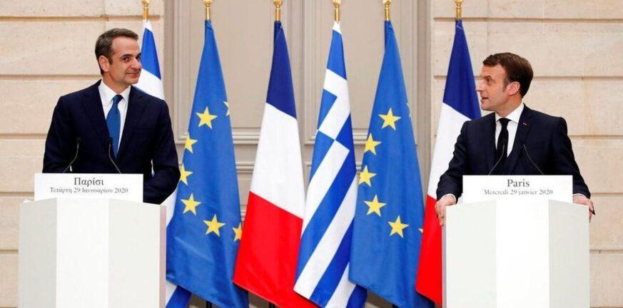 Μακρόν για συνεργασία Ελλάδας-Γαλλίας: «Θέλουμε να προστατεύσουμε την εδαφική ακεραιότητα και των δύο χωρών»