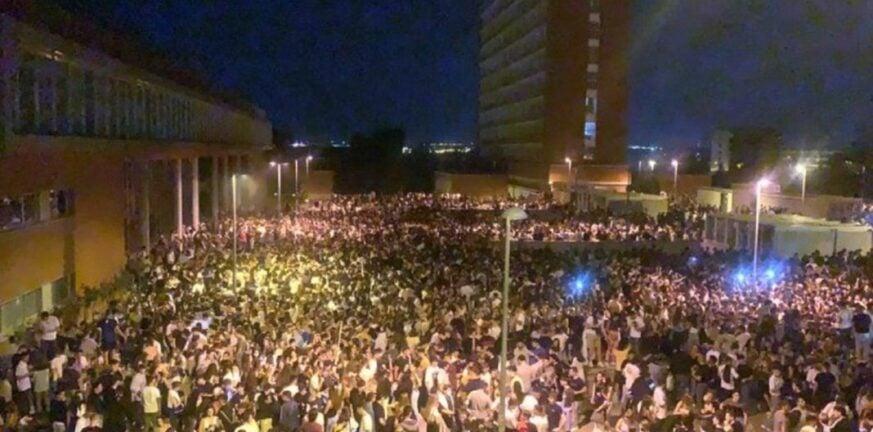 Ισπανία: 25.000 φοιτητές σε υπαίθριο πάρτι στη Μαδρίτη