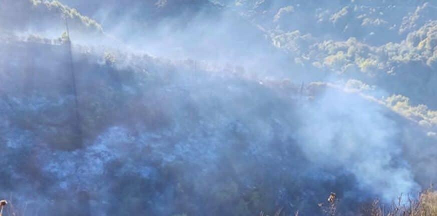 Φωτιά στην Πηνεία στην περιοχή Άγναντα