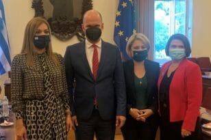 Η συνάντηση της Χριστίνας Αλεξοπούλου με τον αντιπρόεδρο του Εθνικού Συμβουλίου της Σλοβακικής Δημοκρατίας Gabor Grendel