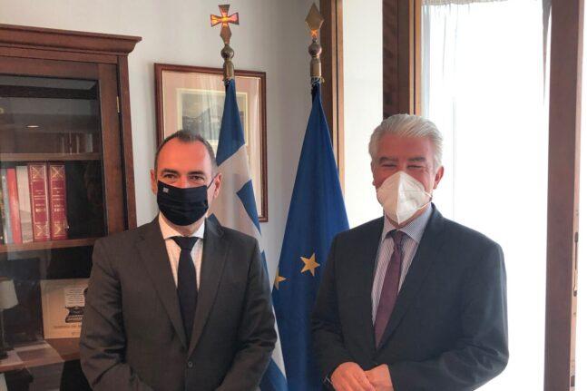 Με τον πρέσβη της Γερμανίας συναντήθηκε ο Ανδρέας Κατσανιώτης