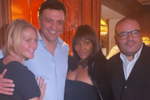 Γεύμα με την Ναόμι Κάμπελ στο Παρίσι για Κικίλια και Μπαλατσινού - ΦΩΤΟ