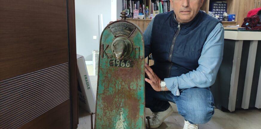 Πάτρα: Η βρύση αντίκα του 1966 σε κατάστημα στην οδό Κορινθού