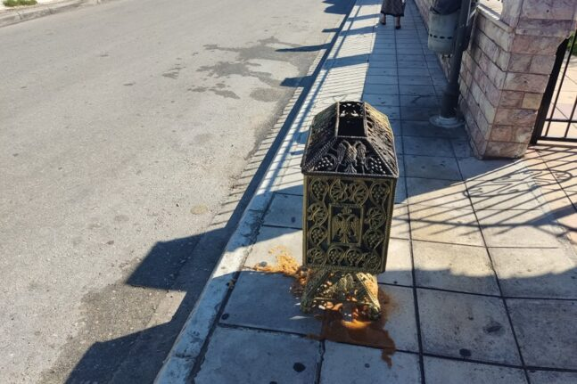 Ταραμπούρα: Αρπαξε φωτιά στο εκκλησάκι του Αγίου Αιμιλιανού αλλά όλα καλά...