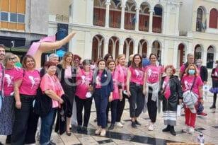 Η Πάτρα έγινε ροζ - Εκδηλώσεις στο κέντρο για τον καρκίνο του μαστού ΦΩΤΟ