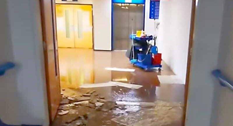 Πανεπιστημιακό Νοσοκομείο Πάτρας: Στο έλεος της...νεροποντής