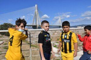 «Welcome through Football» μέσω του Ατλαντα με θέα τη Γέφυρα ΦΩΤΟΓΡΑΦΙΕΣ