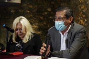 Ο Κώστας Πελετίδης στην παρουσίαση του βιβλίου της Σεμίνας Διγενή «Αποδελτίωση»