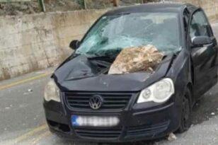 Αράχωβα: Βράχος από το... πουθενά διέλυσε αυτοκίνητο