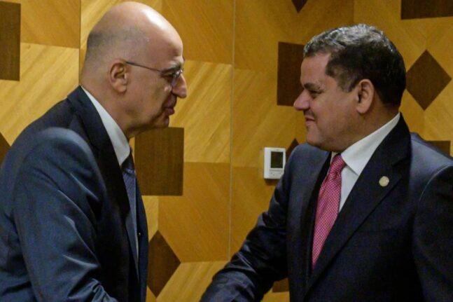 Ο Ν. Δένδιας έθεσε στον πρωθυπουργό της Λιβύης το ζήτημα του «παράνομου και άκυρου Μνημονίου με την Τουρκία»