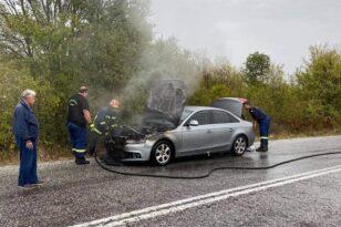 Πήρε φωτιά το αυτοκίνητο του Παναγιώτη Ψωμιάδη «Δεν είχα ούτε φρένα, ούτε τον έλεγχο» - ΦΩΤΟ