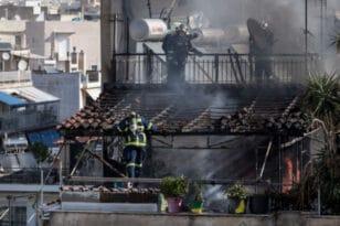 Φωτιά σε πολυκατοικία- Βίντεο ντοκουμέντο με ένοικο που πηδά από το μπαλκόνι για να γλιτώσει