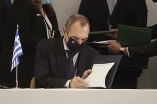 Με υπογραφή του Αχαιού υπουργού Ανδρέα Κατσανιώτη το μνημόνιο Ελλάδας - Κύπρου - Αιγύπτου - ΦΩΤΟ