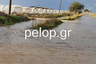 Ο «Μπάλλος» πλημμύρισε χωράφια και δρόμους στη Δυτική Αχαΐα- ΦΩΤΟ
