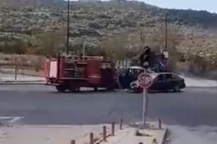 Σοκαριστικό βίντεο από την επίθεση Ρομά σε πυροσβέστες στο Σχιστό