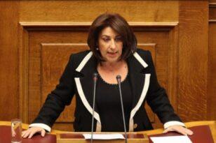 Η Τόνια Αντωνίου στη Βουλή μετά τον θάνατο της Φώφης Γεννηματά