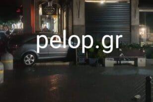 Πάτρα: Αυτοκίνητο μπήκε σε ...κρεπερί - ΦΩΤΟ